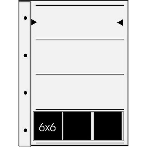 Negativhüllen 4 Streifen a3 6x7 Negative Rollfilm Acetat/Acetat 25 Blatt