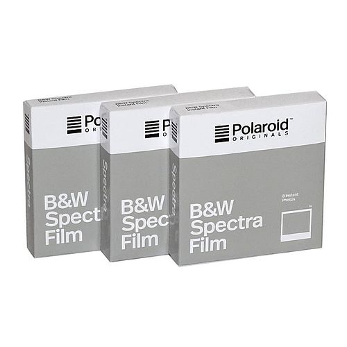 POLAROID IMAGE/Spectra Schwarzweiß Film, 3x 8 Aufnahmen für Polaroid Image Kameras