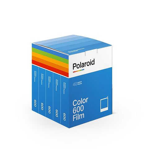 POLAROID 600 COLOR Film x40 Film Pack 5x 8 Aufn. für Polaroid 600 + Impulse Kameras