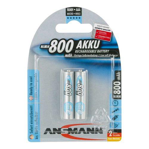 ANSMANN Micro AAA Max e NiMH-Akkus 800mAh 2 Stück