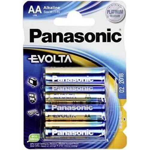 PANASONIC Evolta Mignon 1500/LR6/AA Alkaline 1,5 Volt 4 Stück