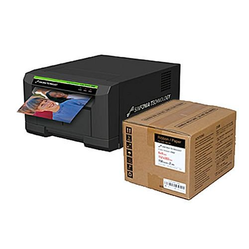 SINFONIA (SHINKO) Color Stream CS2 Fotodrucker / Thermodrucker inkl. 300 Blatt Papier 15x20cm