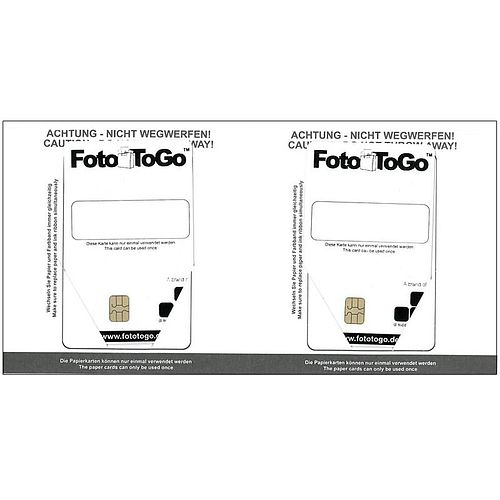 2 Stück codierte Papierkarten für DNP-Drucker DSRX1 FotoToGo 10x15