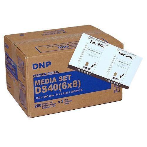 DNP Mediaset FotoToGo für DS 40 Drucker 15x20cm (6x8inch) für 400 Prints