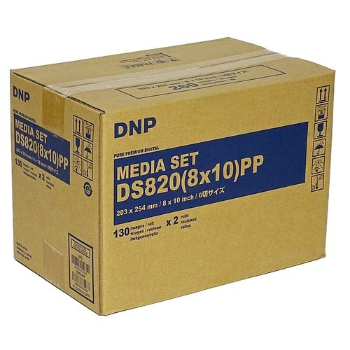 DNP Mediaset für DS 820 Drucker 20x25cm (8x10inch) PP für 2x 130 Prints