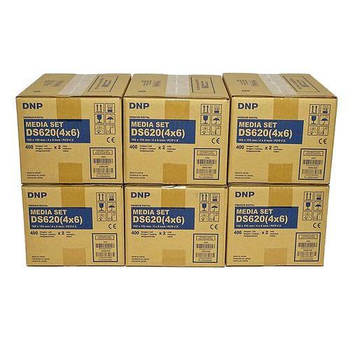 DNP Mediasets für DS 620 Drucker 10x15cm (4x6inch) 6 Karton für 4.800 Bilder