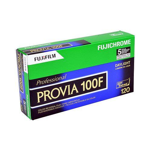 FUJI Provia 100 F Dia-Farbfilm (Umkehrfilm), 120 Rollfilm 5 Stück