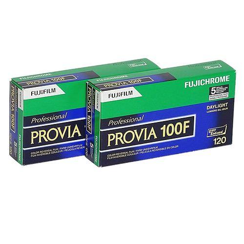 FUJI Provia 100 F Dia-Farbfilm (Umkehrfilm), 120 Rollfilm, 2x 5 Stück