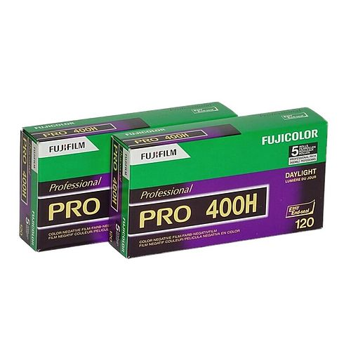 FUJI PRO 400 H Negativ-Farbfilm, 120 Rollfilm, 2x 5 Stück