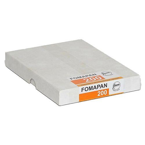 FOMA Fomapan 200 Schwarzweißfilm, 4x5inch / 10,2x12,7cm, 50 Blatt