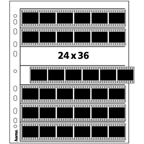 HAMA Negativhüllen 7 Streifen a6 KB-Negative Pergamin 25 Blatt