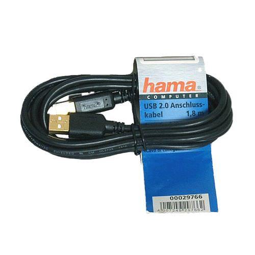 HAMA 45021 Kabel USB-A auf USB-B 1,8m grau