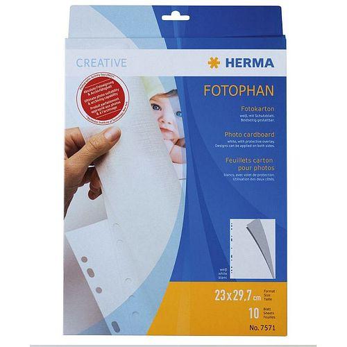 HERMA Fotokarton A4 weiß 10 Blatt