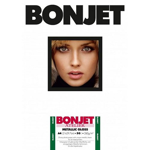 BONJET Atelier Metallic Gloss 260 g/m², A3 29,7x42cm, 30 Blatt