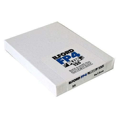 ILFORD FP4 Plus 125 Schwarzweißfilm, 9x12cm, 25 Blatt
