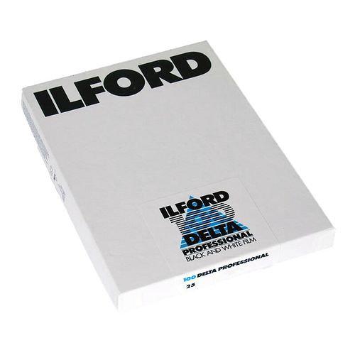 ILFORD Delta 100 Schwarzweißfilm, 4x5 inch / 10,2 x 12,7 cm, 25 Blatt