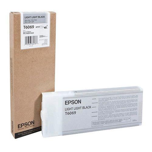 EPSON T6069 Tintenpatrone light light schwarz 220ml für Stylus Pro 4800/4880 **02/2021 MHD