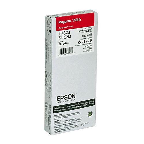 EPSON Ink Cartridge Magenta 200 ml für Surelab SL-D700  07/2021 MHD