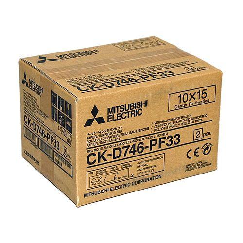 MITSUBISHI CK D 746 PF33 10x15cm (4x6inch) für 800 Bilder (2x400) perforiert