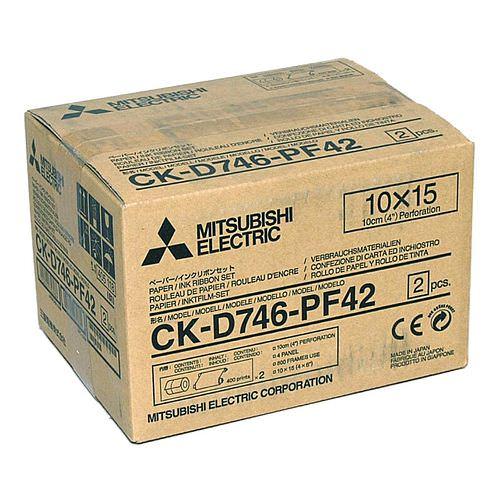 MITSUBISHI CK D 746 PF42 10x15cm (4x6inch) für 800 Bilder (2x400) perforiert