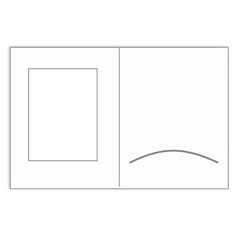 Portraitmappen 10x15 weiß matt mit Passepartout 50 Blatt