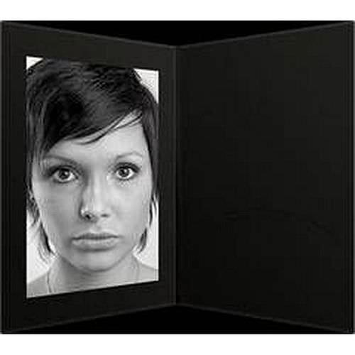Portraitmappen 13x18 schwarz mit Passepartout 100 Blatt