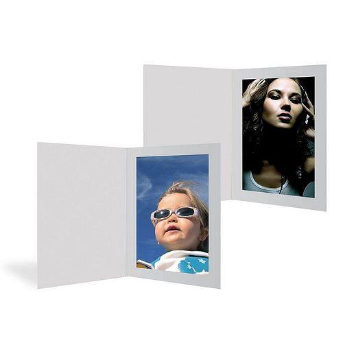 Portraitmappen 20x30 weiß mit Passepartout 100 Blatt