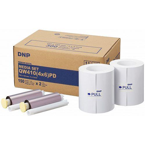 DNP Mediaset Premium (PD) für QW410 Drucker 10x15cm (4x6inch) für 300 Bilder