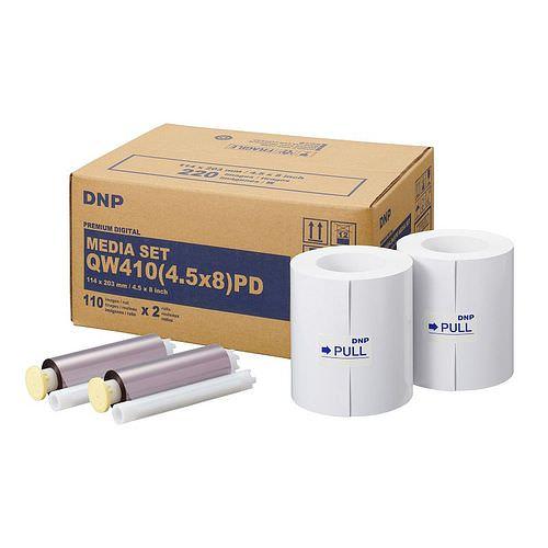 DNP Mediaset Premium (PD) für QW410 Drucker 11x20cm (4.5x8inch) für 220 Bilder