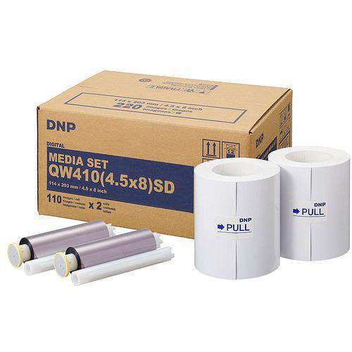 DNP Mediaset Standard (SD) für QW410 Drucker 11x20cm (4.5x8inch) für 220 Bilder