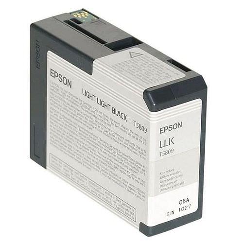 EPSON T5809 Tintenpatrone light light schwarz 80ml für Stylus Pro 3800 und Pro 3880