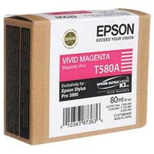 EPSON T580A Tintenpatrone vivid magenta 80ml für Stylus Pro 3880