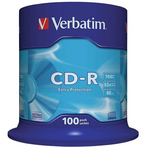 VERBATIM CD-R 80 700 MB 52x Spindel 100 Stück