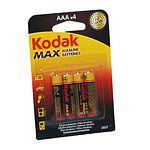 KODAK Micro K3A-4 LR03/AAA Max Super Alkaline 1,5 Volt 4 Stück