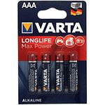 VARTA 4703 Micro Longlife Max Power AAA MN 2400 Alkaline 1,5 Volt 4 Stück
