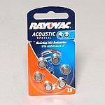 RAYOVAC Acoustic 13 Hörgerätebatterie 6 Stück