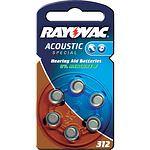 RAYOVAC Acoustic 312 Hörgerätebatterie 6 Stück