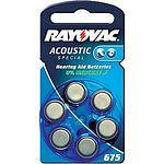 RAYOVAC Acoustic 675 Hörgerätebatterie 6 Stück