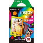 FUJI Instax Mini RAINBOW Film, 1x 10 Aufnahmen