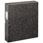 HAMA Negativ Ordner, schwarz Füllhöhe 45mm schwarz/marmor