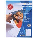 HERMA Fotophan Sichthüllen weiß A 4 hoch 10x15 10 Blatt