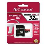 TRANSCEND Secure Digital microSDHC 32GB Class 10 m. Adapter