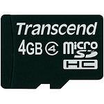 TRANSCEND Secure Digital microSDHC 4GB Class 10 + SD Adapter