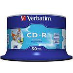 VERBATIM CD-R 80 700 MB 52x Spindel 50 Stück IWP