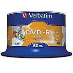 VERBATIM DVD -R 4,7 GB 16x Spindel 50 Stück printable